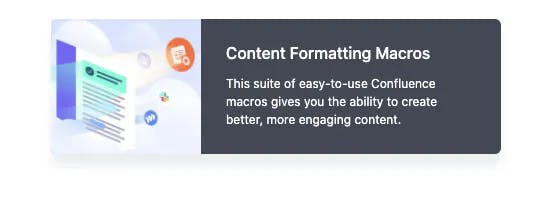 Confluence card macro in use