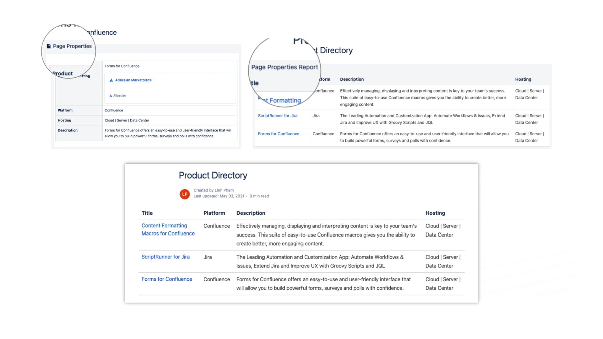 Page properties macro in Confluence