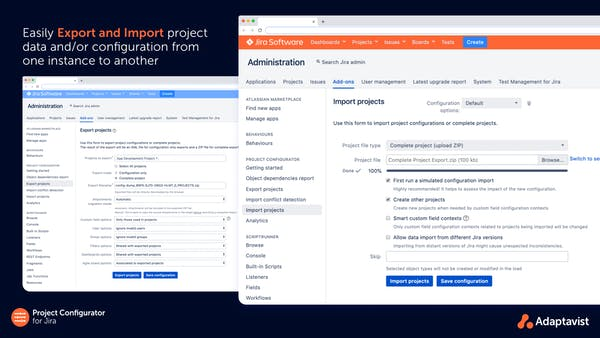 Project Configurator screenshot