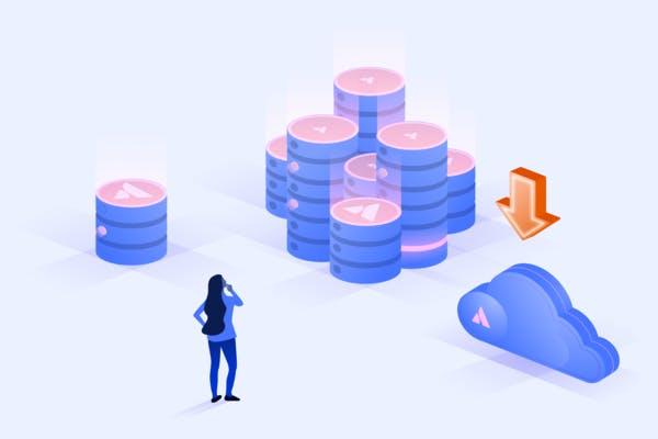 Illustration of Server, Data Center or Cloud hosting.