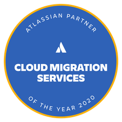 Atlassian Cloud Migration Services award logo
