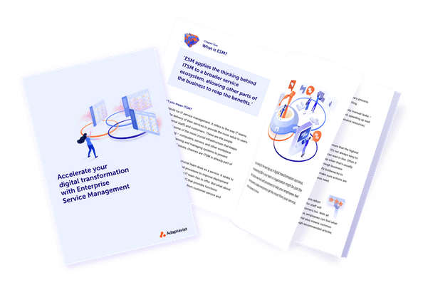 Accelerate your digital transformation with Enterprise Service Management ebook