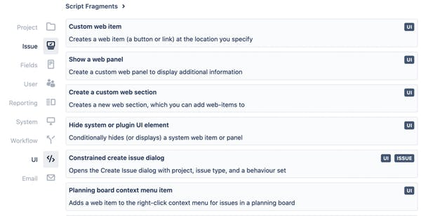screenshot of customisation