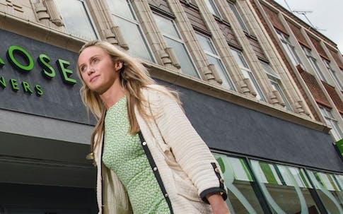 Woman outside Waitrose