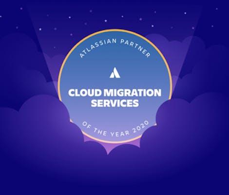 Atlassian cloud migration award logo