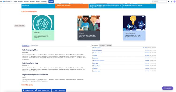 Confluence page screenshot
