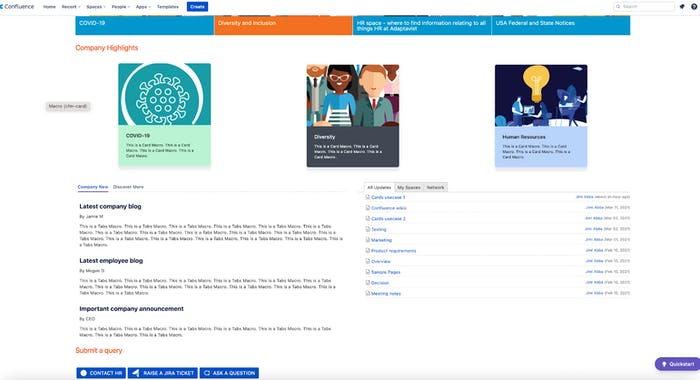 Confluence page screenshot
