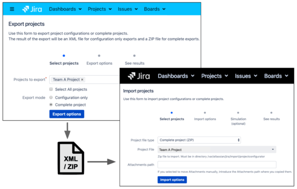 Migrating Jira screenshot