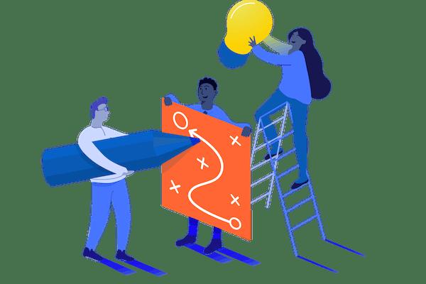 People working together illustration