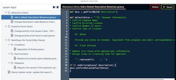 screenshot of automation