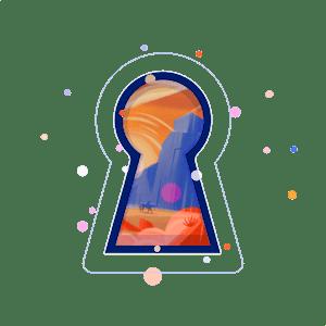 negative space keyhole