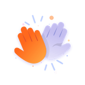 Illustration of a high five