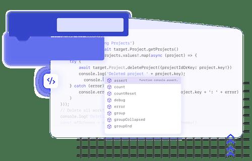 AutoBlocks development with code and blocks