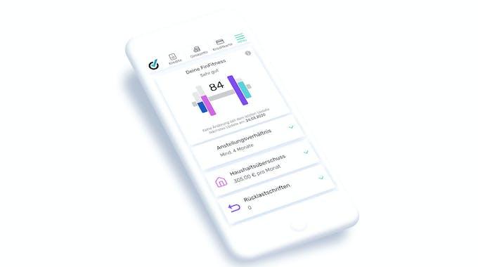 bonität und Handyverträge - bonify FinFitness handyscreen
