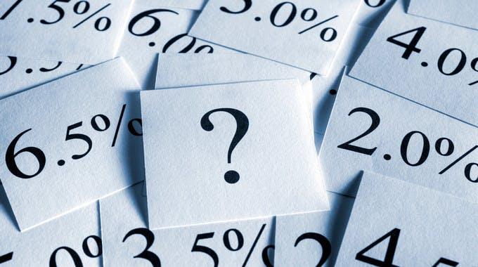 Effektiver Jahreszins: Fragezeichen beim Effektivzins