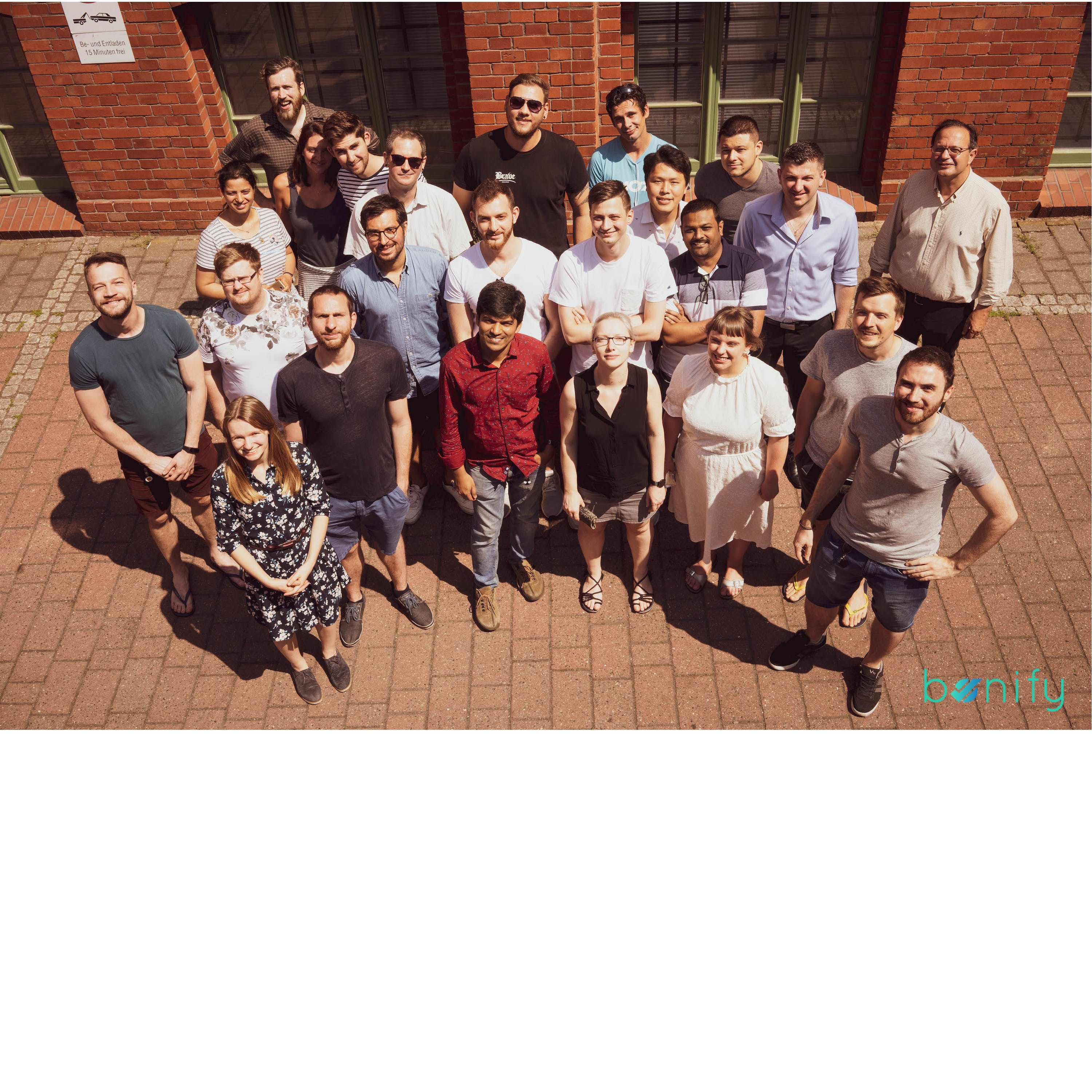 Bonify team picture with everyone who works there