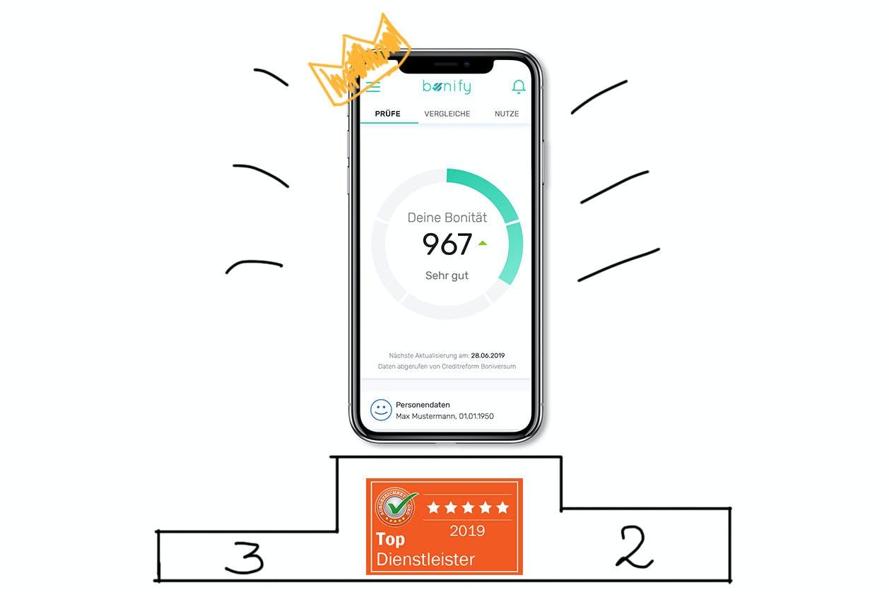 bonify wurde als Top Dienstleister 2019 ausgezeichnet