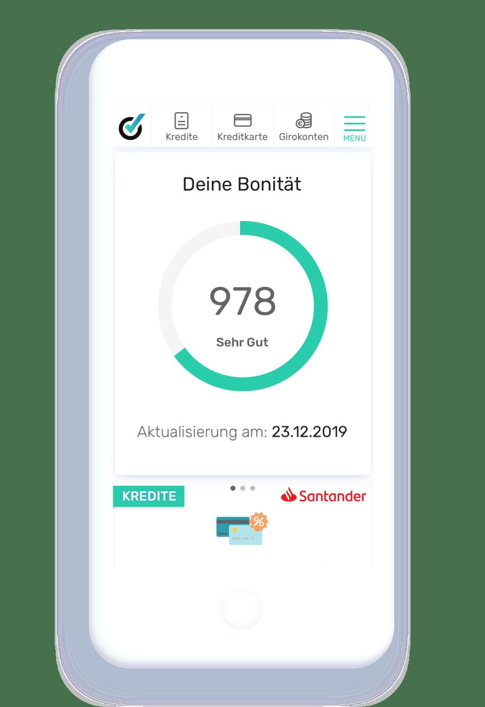 bonify Screen Bonitätsscore