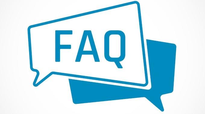 FAQ in Sprechblasen
