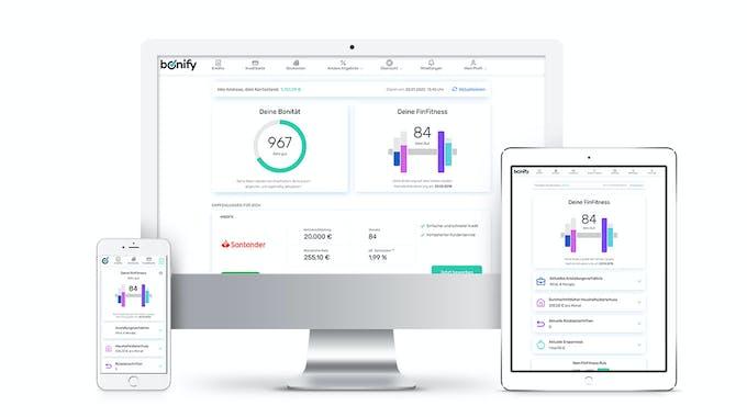 bonify auf unterschiedlichen Geräten