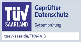 TÜV Saarland, Geprüfter Datenschutz Systemprüfung tuev-saar.de/TK44413
