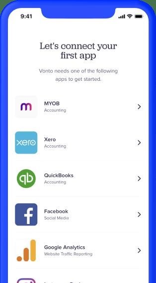 Vonto app at a glance