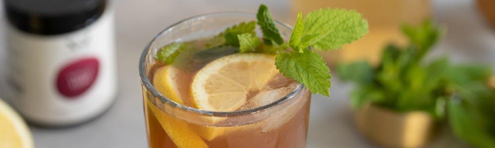 Sommer-Eistee-volle lust-melisse-zitrone