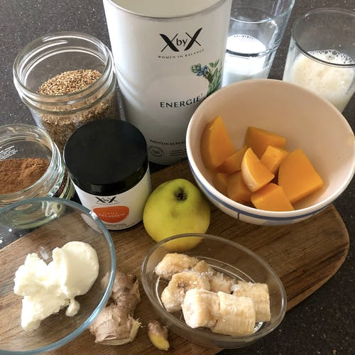 Kokos Kürbis Smoothie, zutaten, xbyx, rezept