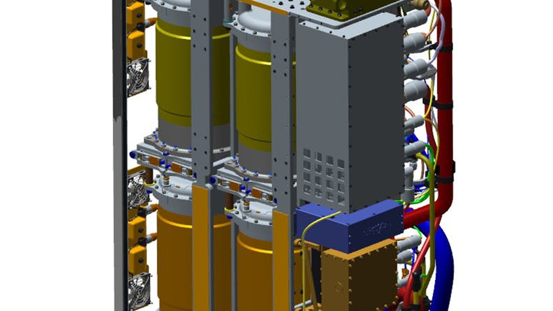 CAD assembly of the air purification units