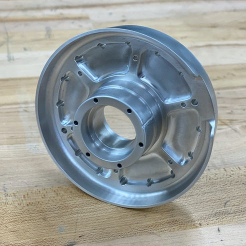 CNC machined part, round part image