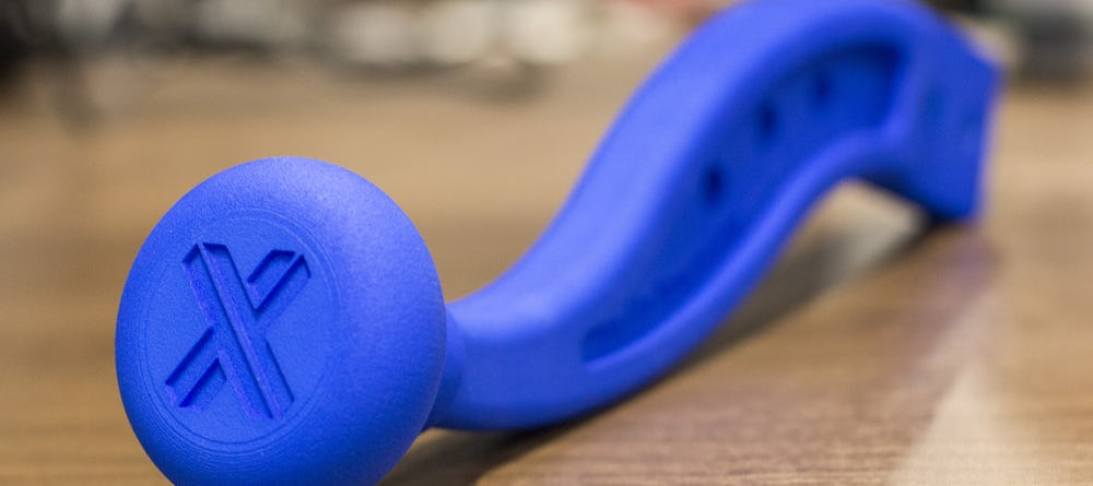 SLS selective laser sinter nylon dyed blue part