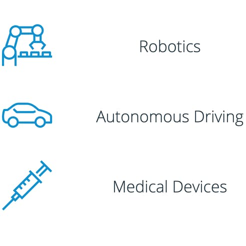 Robotics, Autonomous Driving, Medical Devices