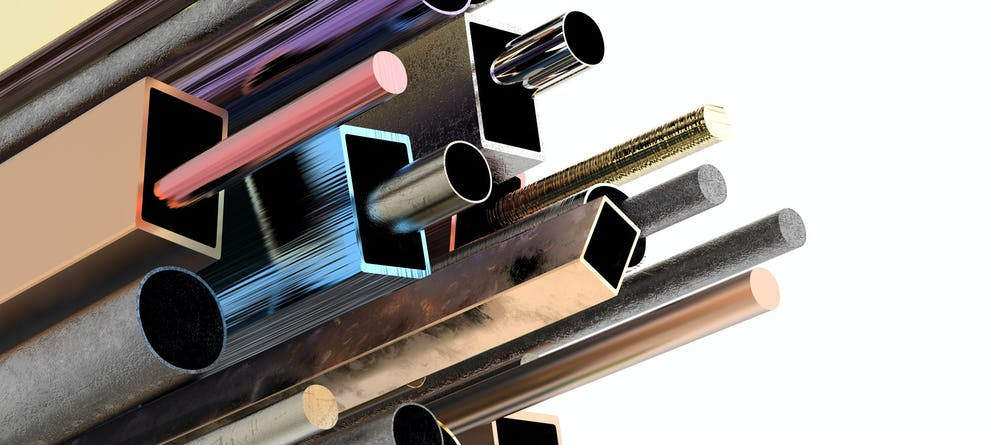 steel bars and beams