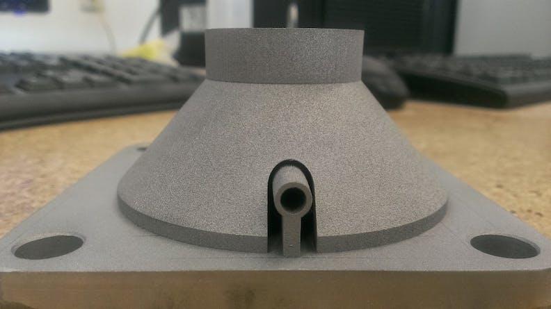 DMLS injector nozzle