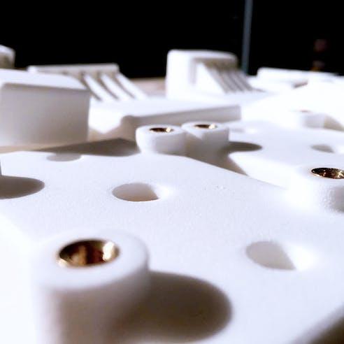 SLS nylon 3D prints with brass threaded inserts