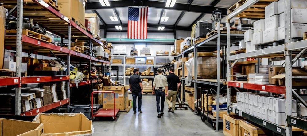 Machine Shop American Flag
