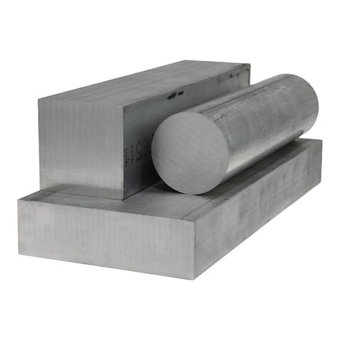 raw aluminum bar and plate