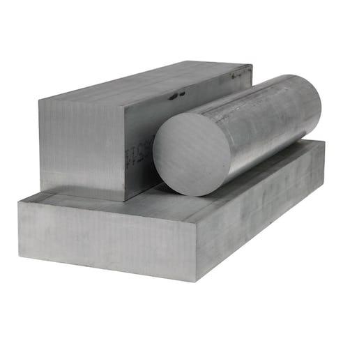 raw aluminum bar and plate