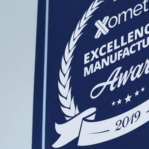 Xometry's Excellence in Manufacturing Award Banner 2019