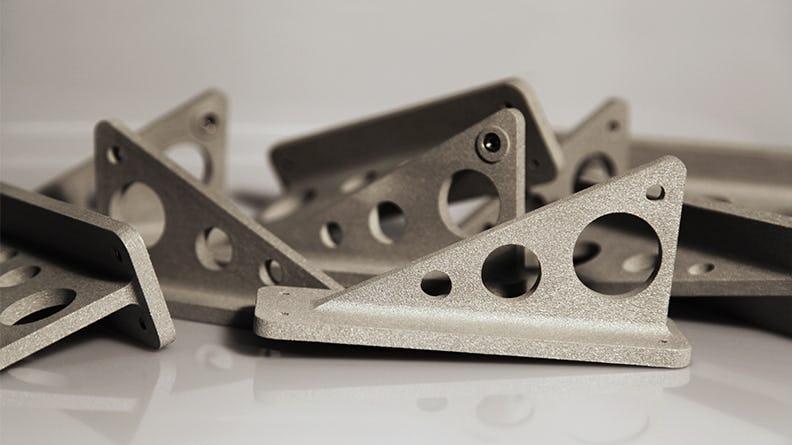 SLS Nylon 12 Aluminum-filled (AF) Brackets