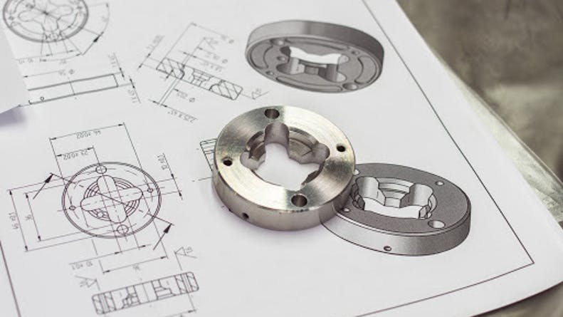 CNC machined parts with its original drawing