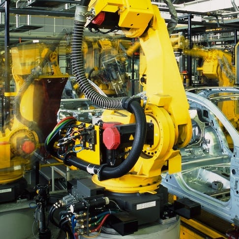 Automotive robot at work