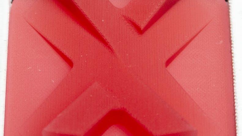 SLA red surface finish