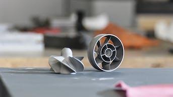 Metal 3D printing stainless steel DMLS propeller impeller