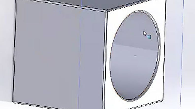 Parting line on a CAD design