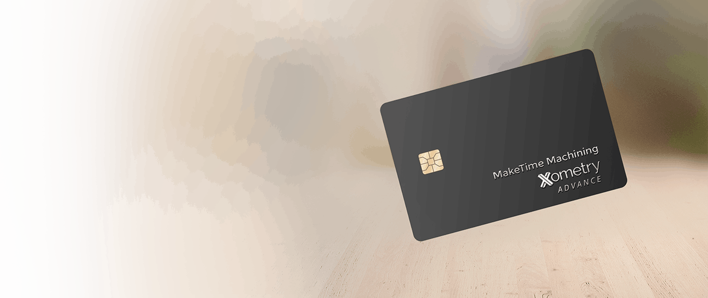 Xometry advance card picture