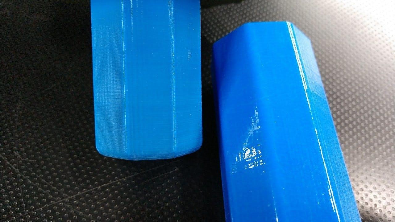 Blue 3D Printed Cylinders