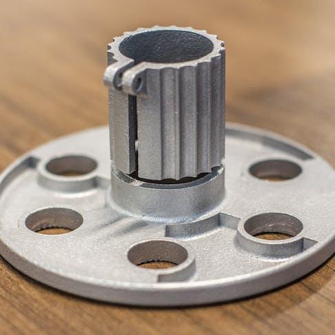 Metal 3D printing DMLS complex part out of aluminum alloy