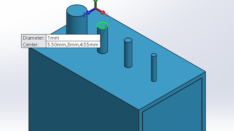 Pins with an expanding diameters