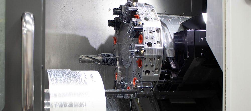 CNC turning occurring